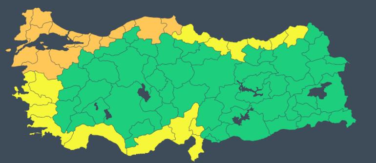 Meteorolojiden İstanbul ve çok sayıda kente turuncu uyarı