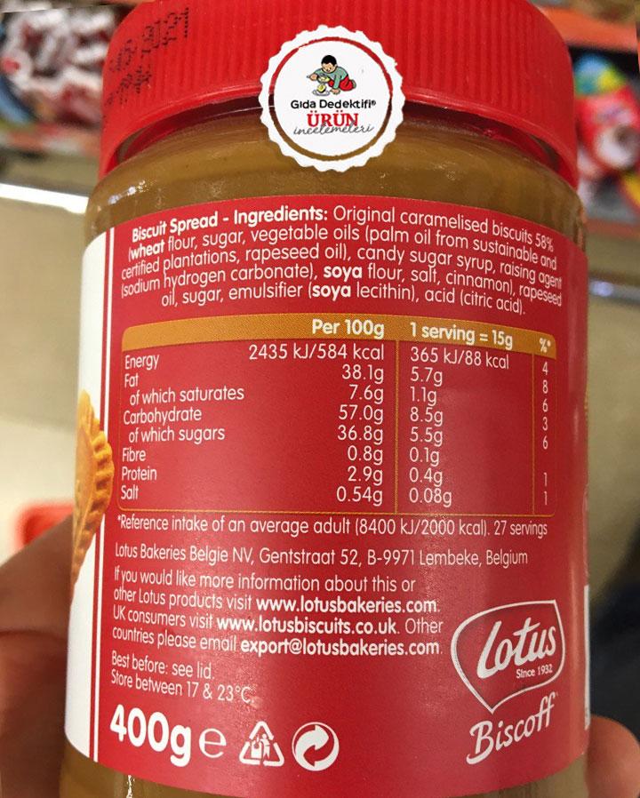 Lotus Biscoff Spread Sürülebilir Bisküvi Ezmesi - Gıda Dedektifi