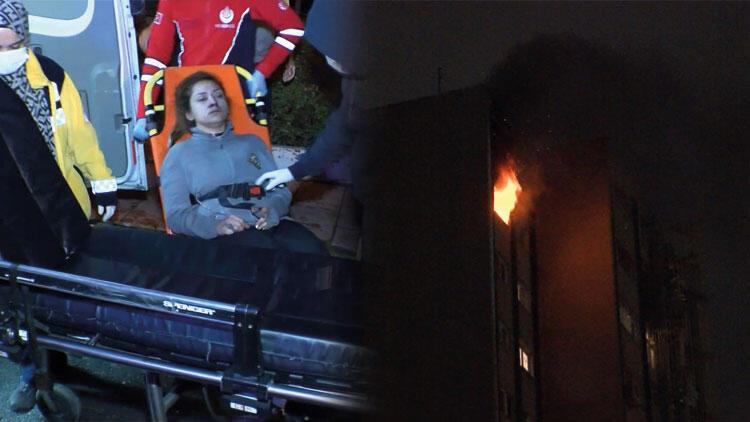 Ataşehir'de korkunç olay! Koli bandıyla bağladı, yanan evde bırakıp kaçtı