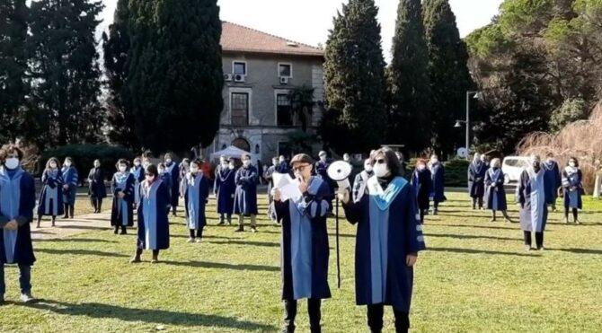 Boğaziçi Üniversitesi öğretim üyelerinden rektör eylemi: Kabul etmiyoruz, vazgeçmiyoruz