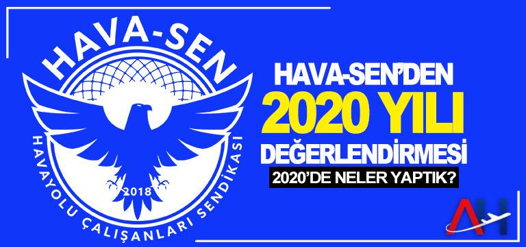 HAVA-SEN'DEN 2020 YILI DEĞERLENDİRMESİ