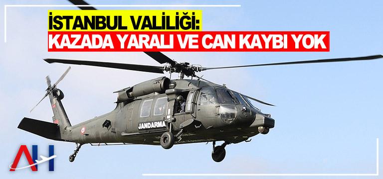 İstanbul Valiliği: Kazada yaralı ve can kaybı yok
