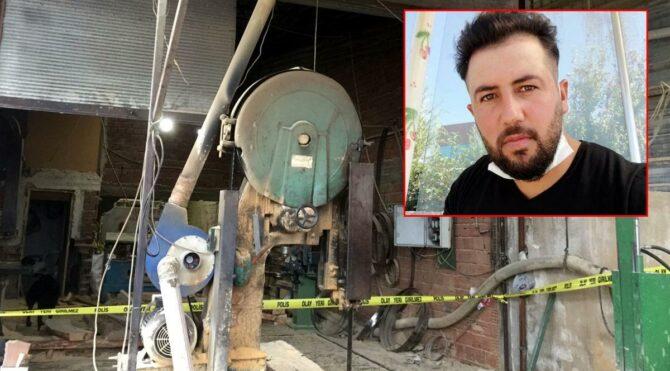 Manisa'da hızar makinesine düşen işçi hayatını kaybetti