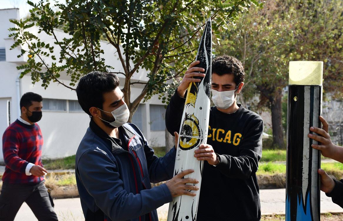 Üniversiteliler 6 kilometre menzilli roket geliştirdi