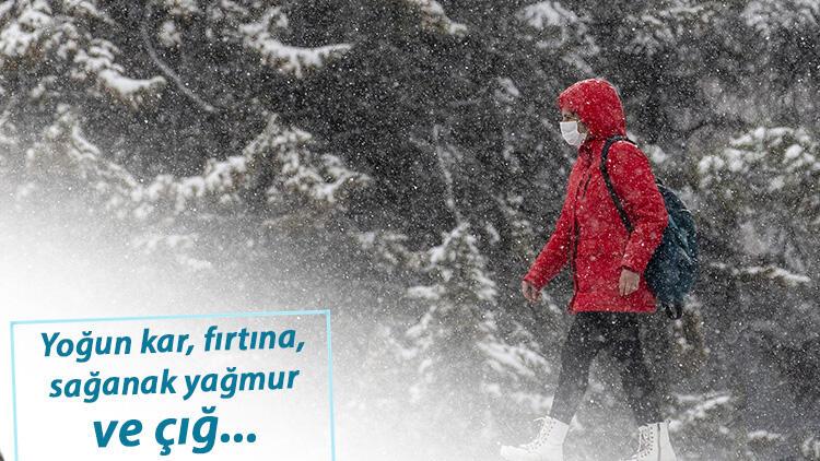 Meteoroloji'den İstanbul, Ankara, İzmir dahil çok sayıda kente uyarı: Yoğun kar, kuvvetli rüzgar...