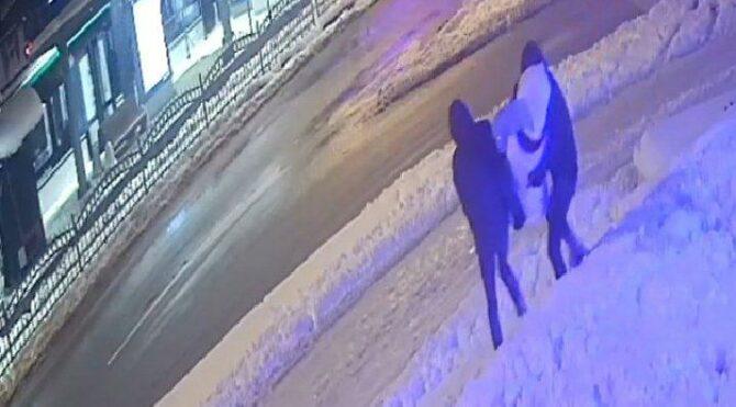 Pes dedirten hırsızlık: Kardan kadını kucaklayıp götürdüler