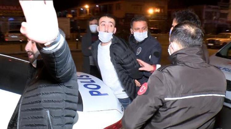İstanbul Ümraniye'de hareketli dakikalar! Aracı polisin üzerine sürünce...