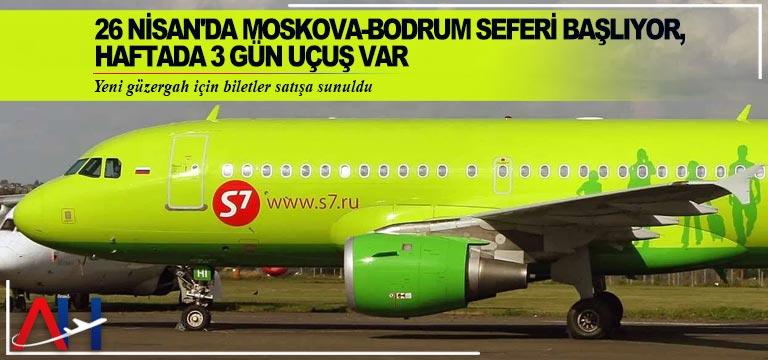 Moskova ile Bodrum uçuşları için biletler satışa çıktı