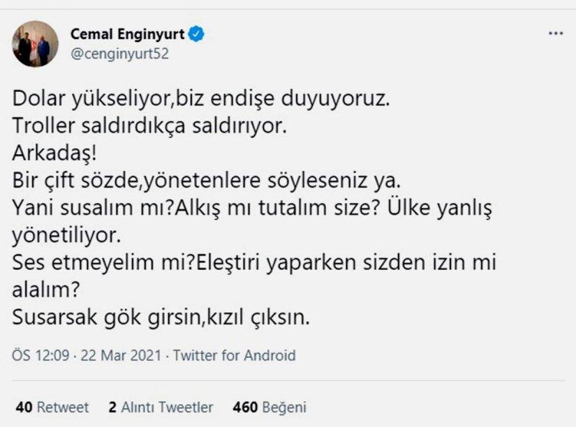Cemal Enginyurt: Bay Kemal, dolar komplosu kurdu