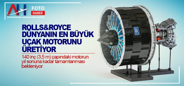 Rolls&Royce dünyanın en büyük uçak motorunu üretiyor