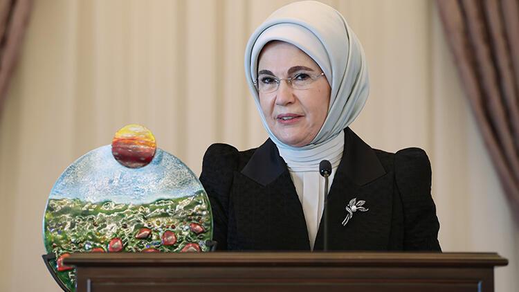 Emine Erdoğan, çevre çalışmalarından dolayı BM'nin Küresel Amaçlar Eylem Ödülü'ne layık görüldü