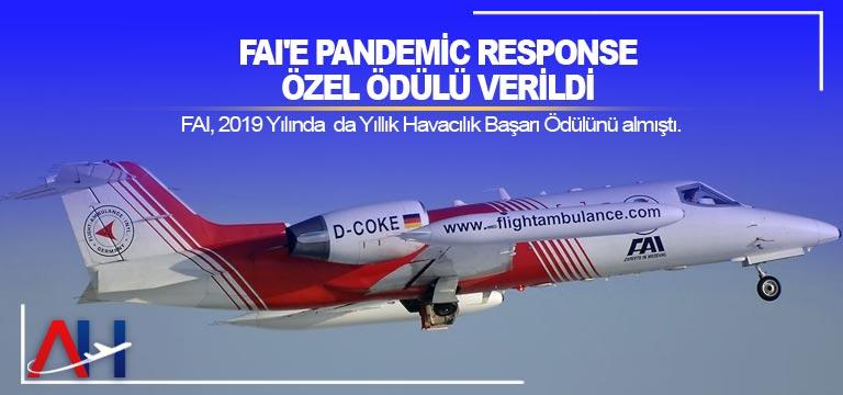 FAI'e Pandemic Response özel ödülü verildi