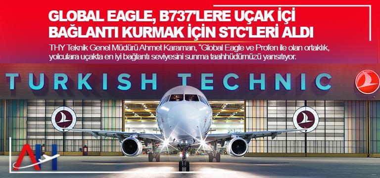 Global Eagle, B737'lere uçak içi bağlantı kurmak için STC'leri aldı