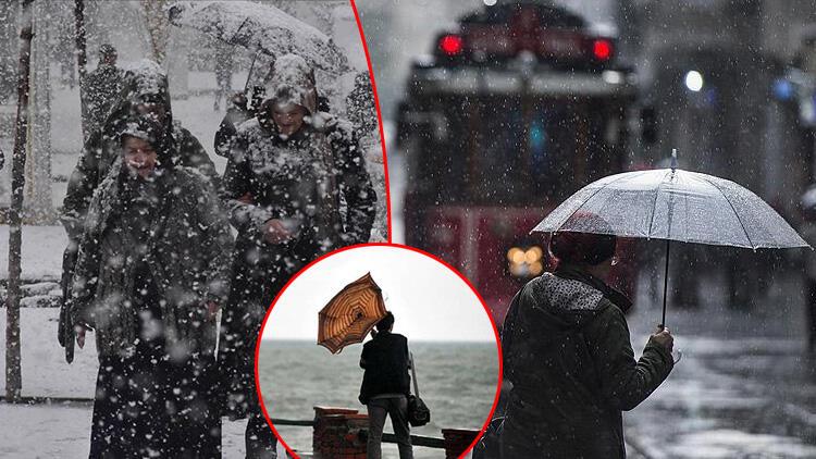 Meteoroloji duyurdu! Tüm yurtta yağış var: Sağanak, kar, fırtına...