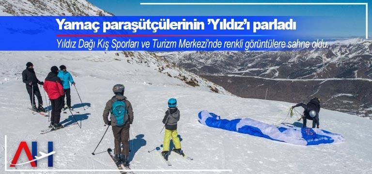 Yıldız Dağı profesyonel yamaç paraşütçülerini ağırladı
