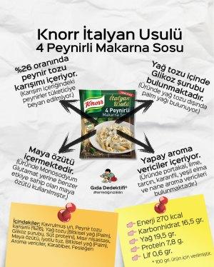 Knorr İtalya Usulü 4 Peynirli Makarna Sosu - Gıda Dedektifi