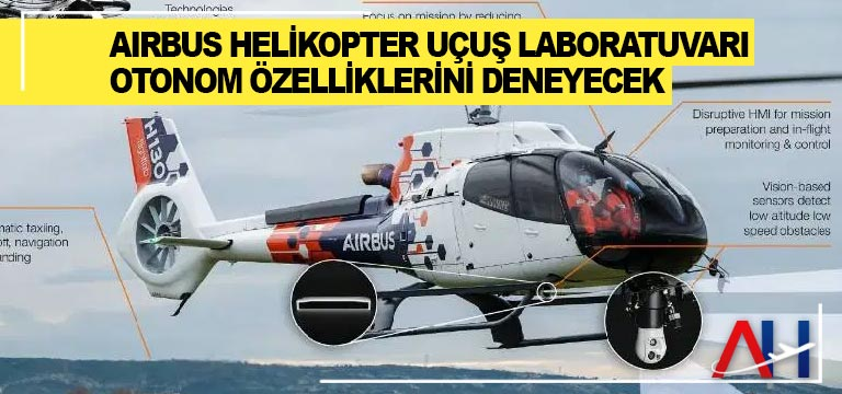 Airbus Helikopter Uçuş Laboratuvarı otonom özelliklerini deneyecek