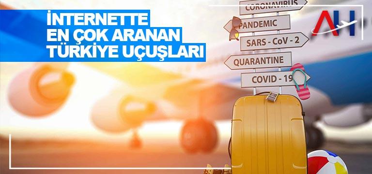 İnternette en çok aranan Türkiye uçuşları