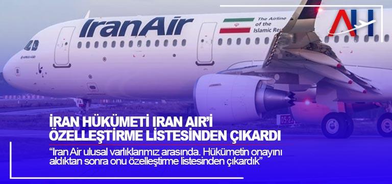 İran Hükümeti Iran Air'i özelleştirme listesinden çıkardı