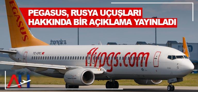 Pegasus, Rusya uçuşları hakkında açıklama yayınladı