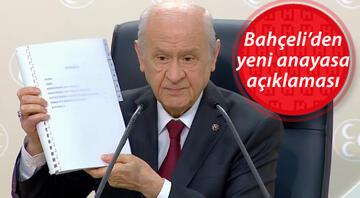 MHP Genel Başkanı Bahçeliden yeni anayasa açıklaması: Metin yazımı sonuçlandı