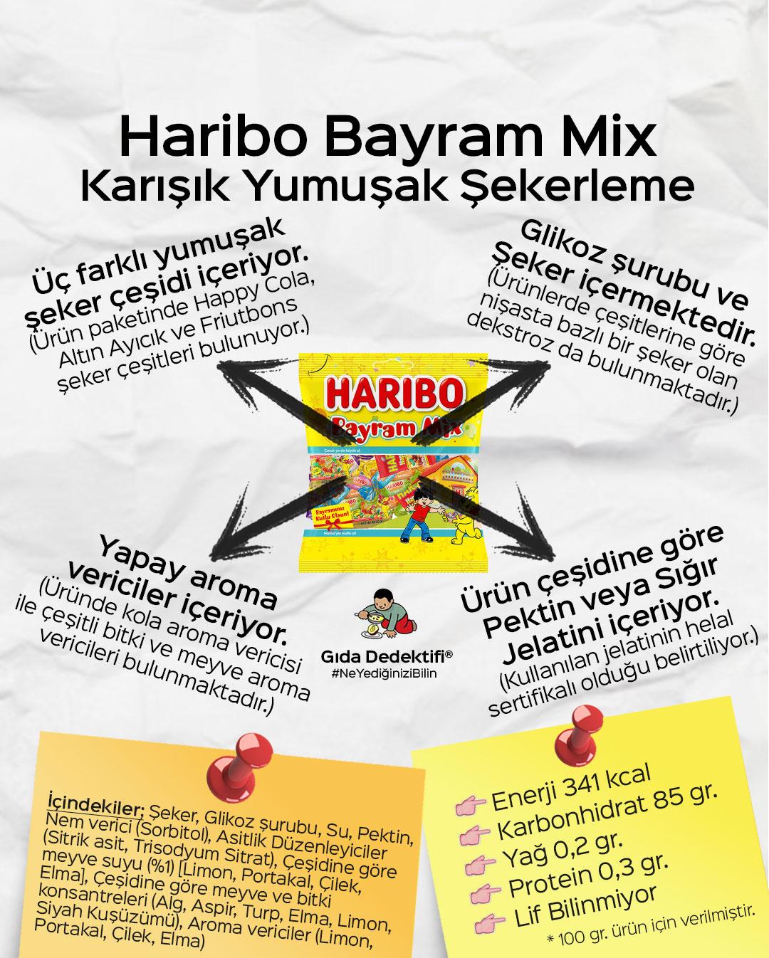 Haribo Bayram Mix Yumuşak Şekerleme - Gıda Dedektifi