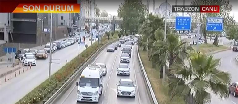 Karadenize çay ve fındık göçü Kısıtlamalar kalktı, trafik durma noktasına geldi