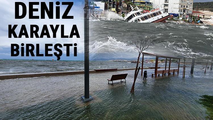Son dakika.. İzmir ve Balıkesir'de fırtına kâbusu! Onlarca tekne battı, su altında kaldı