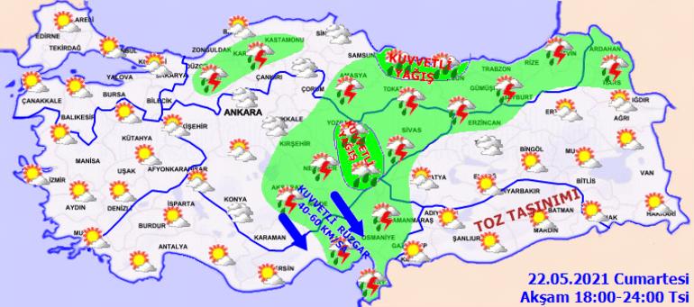 Bugün hava nasıl olacak Meteorolojiden sağanak yağış uyarısı