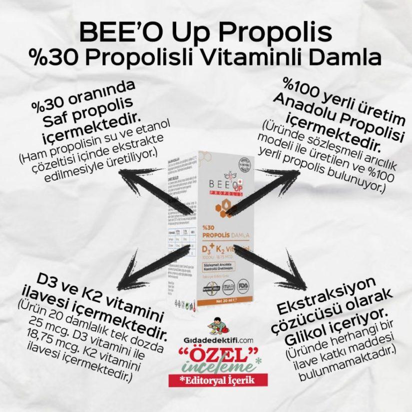 BEE'O Up Propolis Vitaminli Damla - Gıda Dedektifi