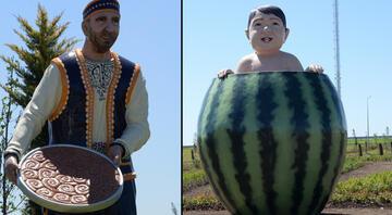 Diyarbakırda karpuz içinde çocuk heykeli çok konuşulmuştu Vali Münir Karaloğlundan açıklama