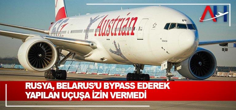 Rusya, Belarus'u bypass ederek yapılan uçuşa izin vermedi