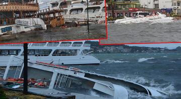 Ortalık savaş alanına döndü Fırtına nedeniyle 20 tekne battı