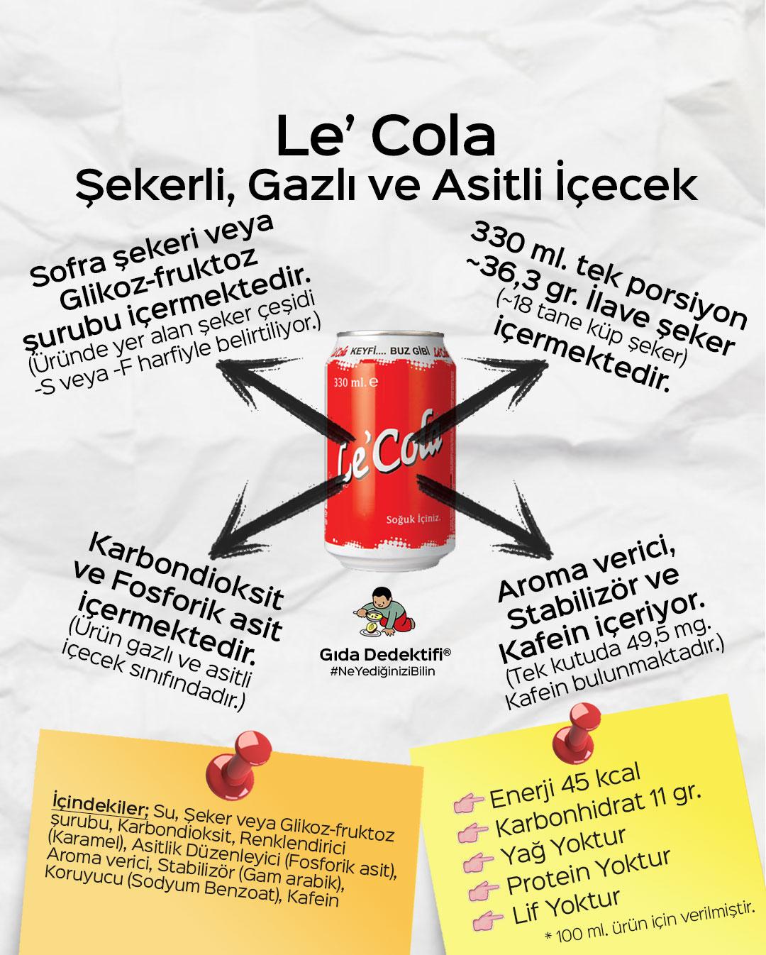 Le'Cola - Gıda Dedektifi