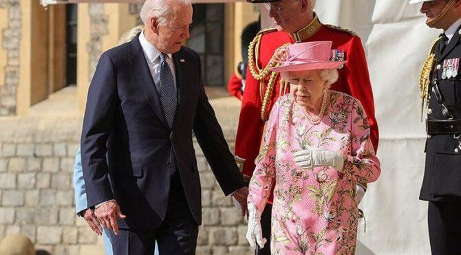 Biden, İngiltere Kraliçesi II. Elizabeth ile bir araya geldi
