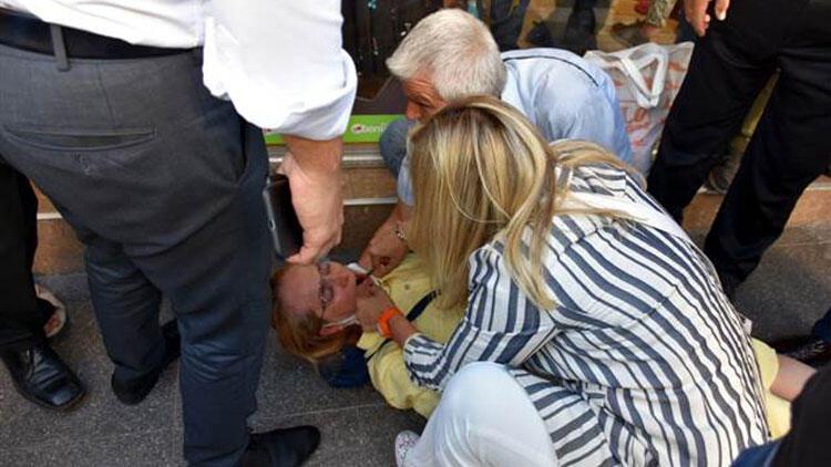 İYİ Partili Aylin Cesur, nöbet geçiren kadının hayatını kurtardı!