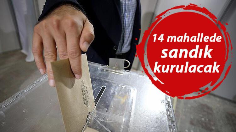 İstanbul'da pazar günü seçim heyecanı var! 14 mahallede sandık kurulacak