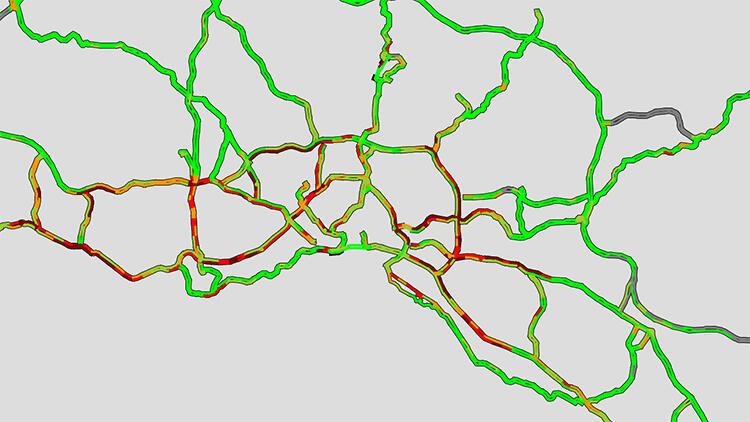 İstanbul'da trafik kilit... Yüzde 67'yi gördü