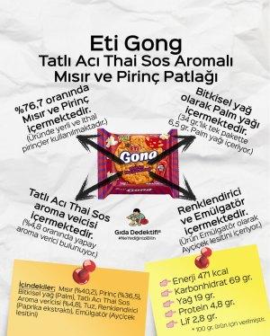 Eti Gong Tatlı Acı Thai Sos Aromalı Mısır ve Pirinç Patlağı - Gıda Dedektifi