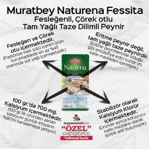 Muratbey Naturena Fessita Tam Yağlı Dilimli Peynir - Gıda Dedektifi