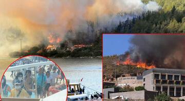 Bodrum - Milas sınırındaki yangın kontrol altına alındı