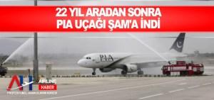 22 yıl aradan sonra PIA uçağı Şam'a indi