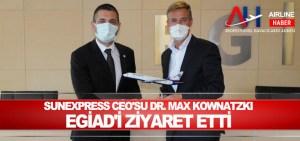 Sunexpress Ceo'su Dr. Max Kownatzki EGİAD'i Ziyaret Etti