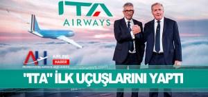 """Alitalia'nın yerini alan """"ITA"""" ilk uçuşlarını yaptı"""