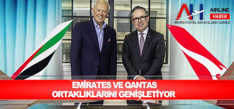 Emirates ve Qantas ortaklıklarını genişletiyor