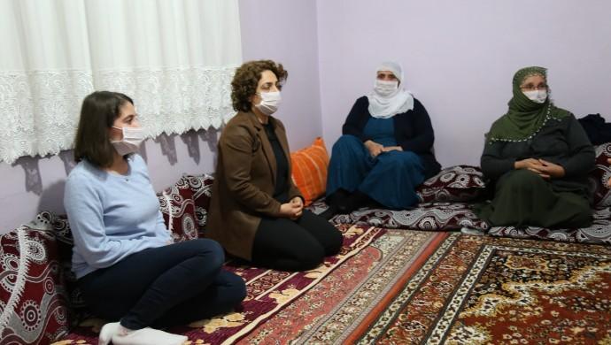 HDP ve DBP'den İpek'in ailesine ziyaret