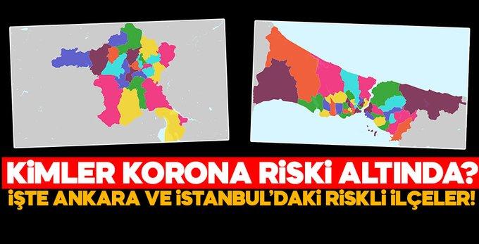 İstanbul ve Ankara'da oturanlar Dikkat: o ilçeler riskli..