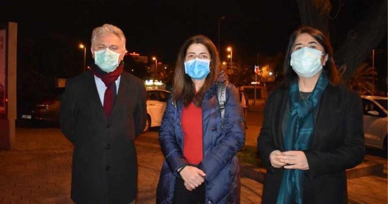 HDP'li vekiller, Emniyet önünden seslendi