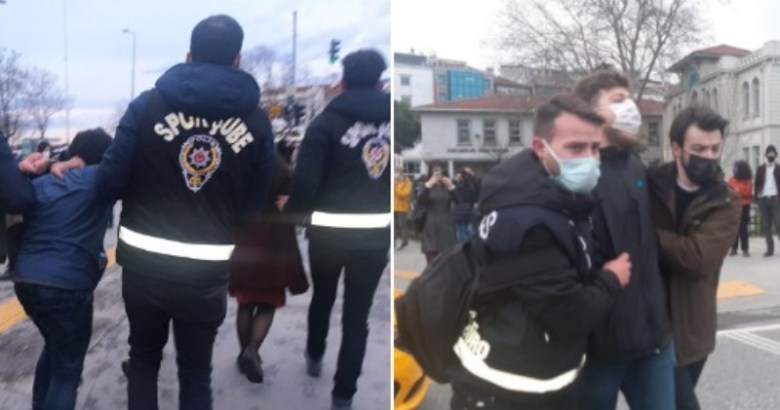Polis yanlışlıkla sivil polisi de gözaltına almaya çalıştı