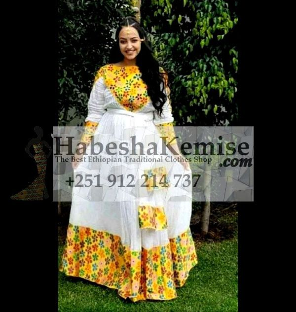 Abeba Nat Ethiopian Traditional Dress-10